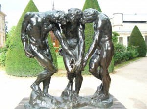 Sculpture Three Shades of Rodin